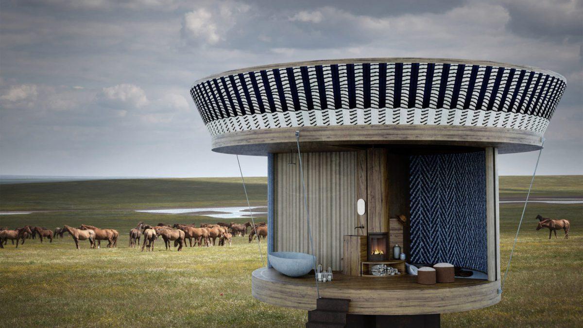 Ova mala ovalna kuća može da se namesti u 20 različitih konfiguracija