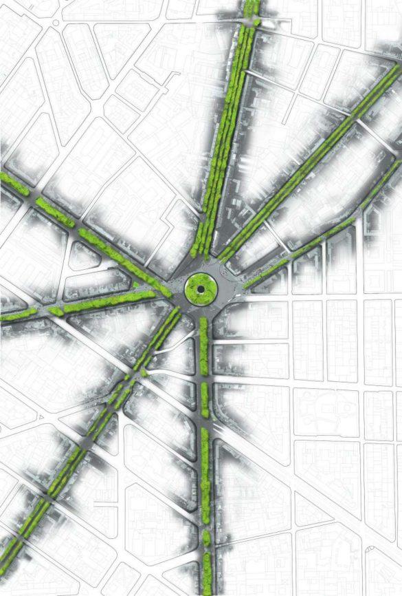 Prikaz novog kružnog toka u širem urbanom kontekstu