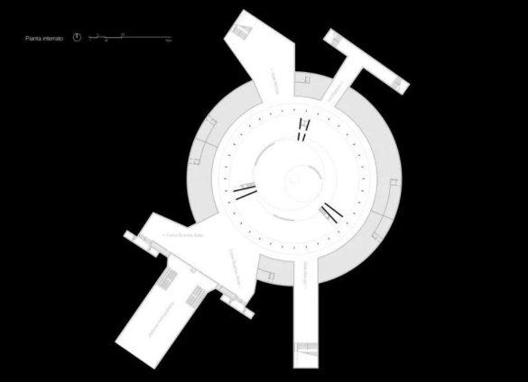 Crtež osnove sa pristupnim zonama