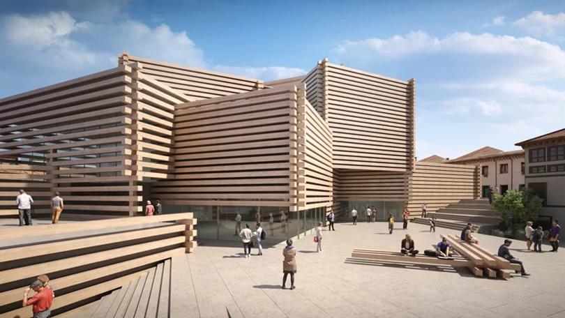 Kengo Kuma predstavlja novi muzej od drvenih greda u Turskoj