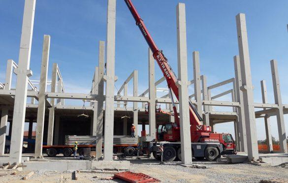 Konstrukcija je prefabrikovana betonska; Foto: Axis