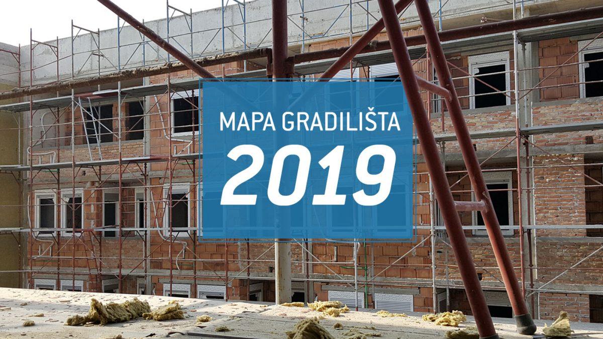 Novo: Mapa gradilišta Srbije za građevinsku sezonu 2019.