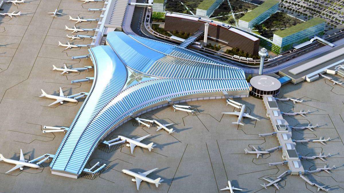 Ovaj terminal s drvenim krovom oblika je ušća reke Čikago