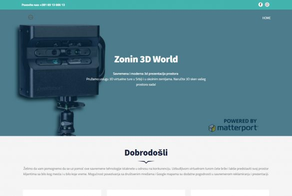 Zonin 3D pomoću Matterport Pro2 3D kamere prostorno skenira i fotografiše prostore