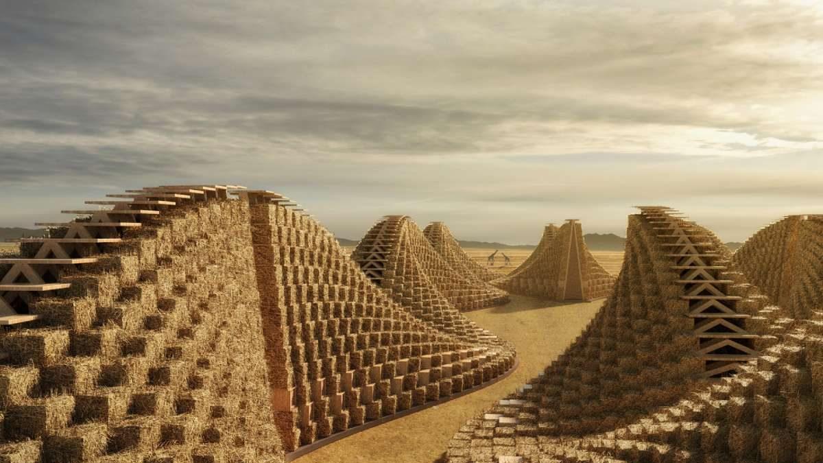 Škola od slame: Modularan i ekološki objekat stepenaste forme