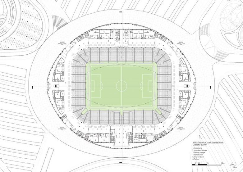 Stadion Al Janoub u Kataru; - Zaha Hadid Architects