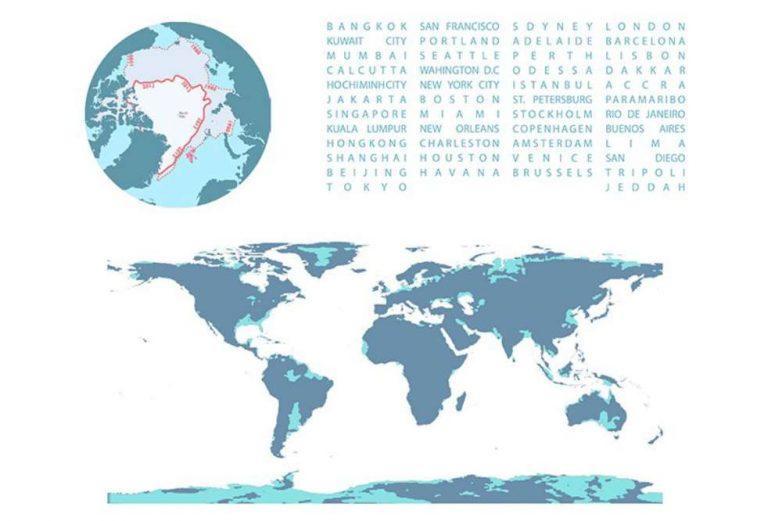 Mapa gradova kod kojih je registrovan porast nivoa vode