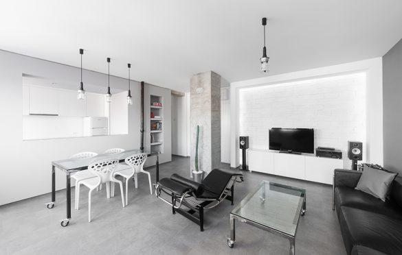 Grey Scale Apartment, Arhitektura Buđevac (2012); Foto: Andreja Buđevac