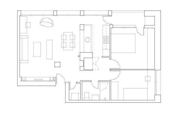 Osnova Grey Scale Apartment, Arhitektura Buđevac (2012)
