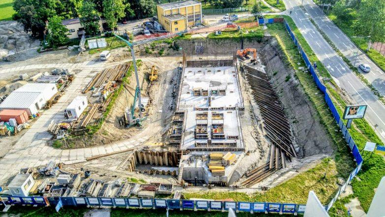 Pogled iz drona na gradilište nove glavne crpne stanice 1; Foto: Graditelj NS