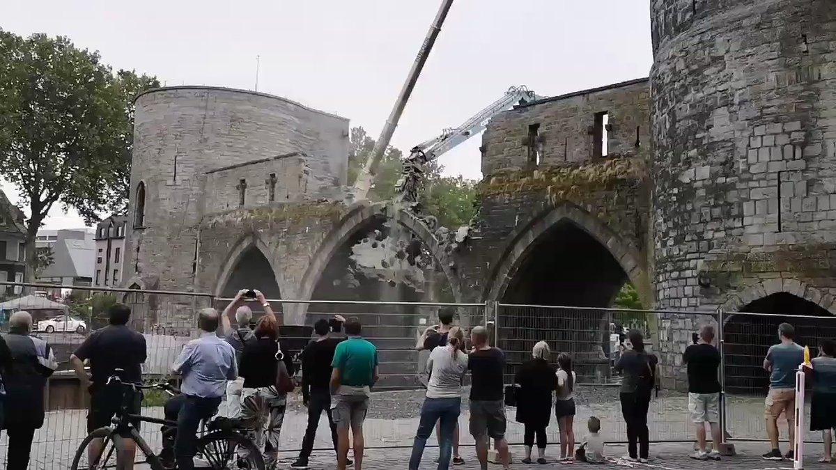 Belgijanci srušili most iz 13. veka kako bi mogli prolaziti veći brodovi