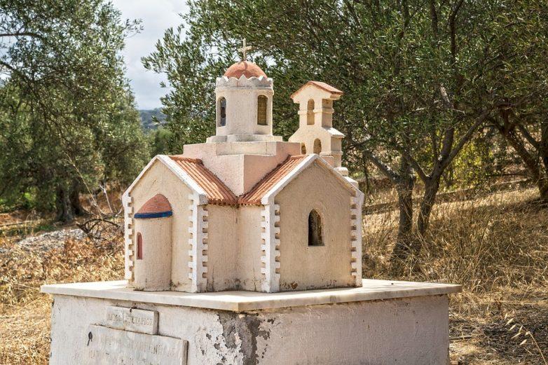 Maketa crkve u Grčkoj