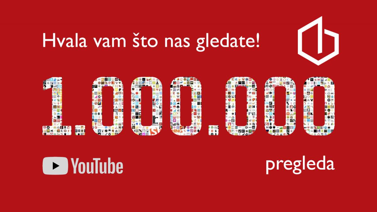 Milion pregleda! Prvi video Gradnje na YouTubeu koji je dostigao magičnu cifru