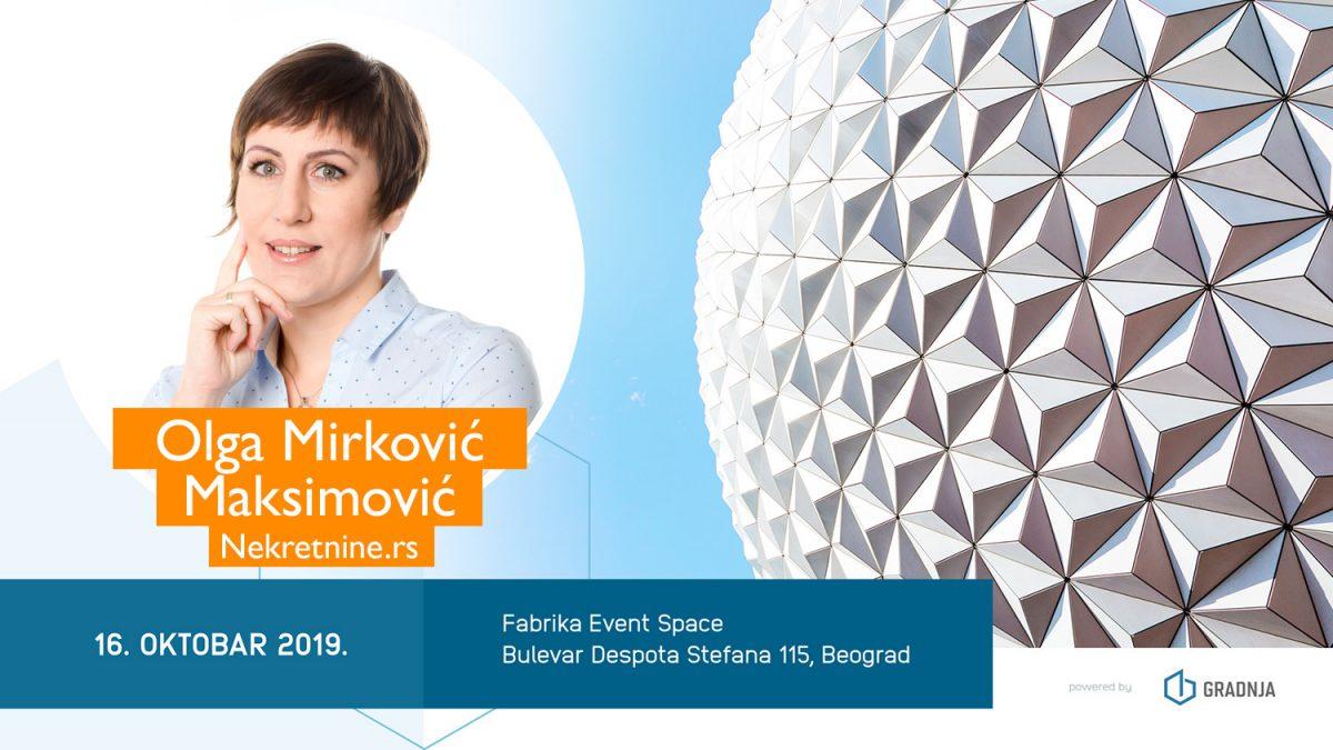Olga Mirković Maksimović: Proptech rešenja brže prodaju nekretnine