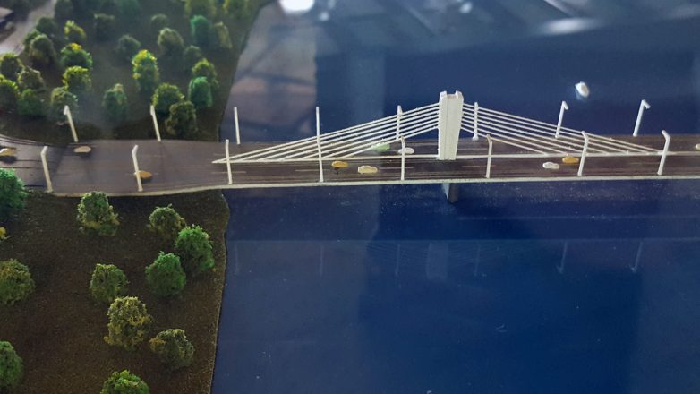 Završetak mosta na sremskoj strani; Foto: Igor Conić