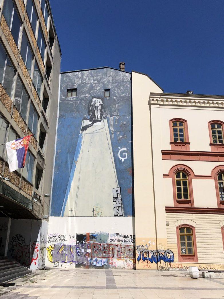 Mural Vladimira Veličkovića, kod Filozofskog fakulteta; Foto: Milja Mladenović
