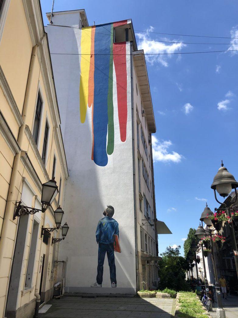 Mural Studenta u Rajićevoj ulici; Foto: Milja Mladenović