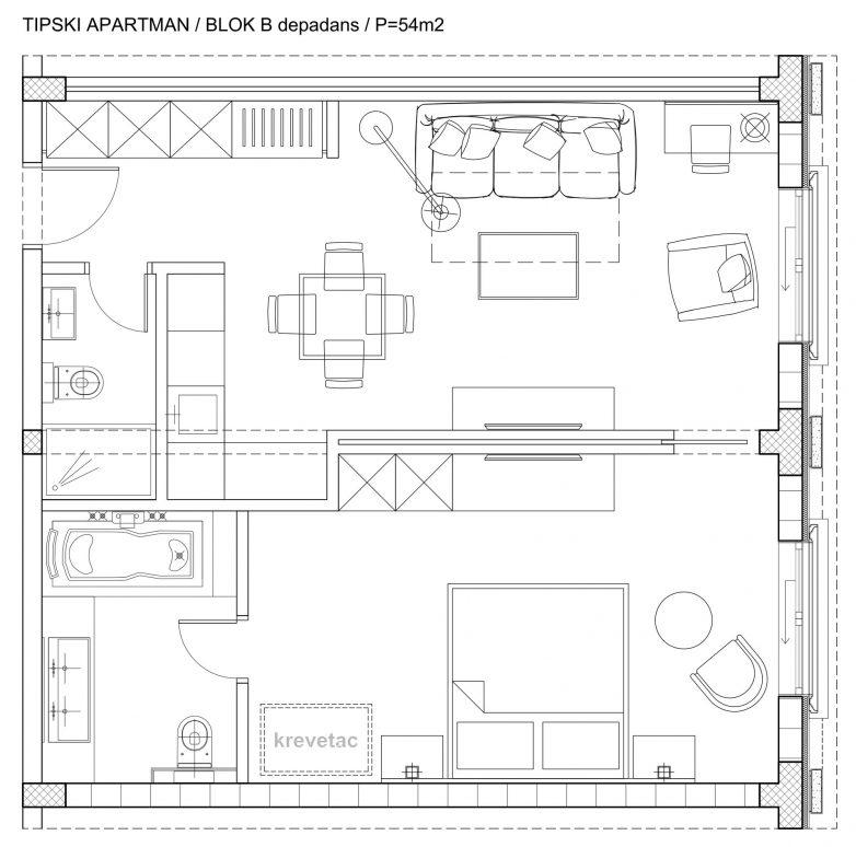 Tipska soba Depadans B Blok