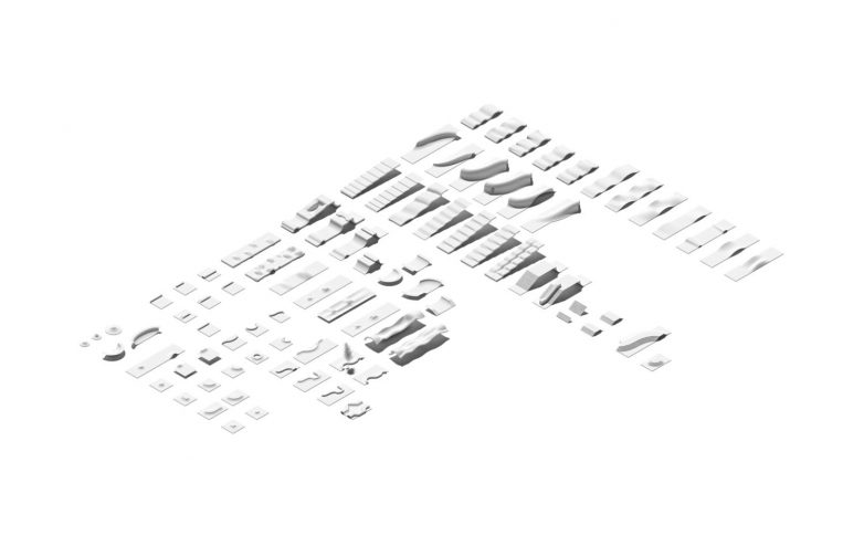 Aksonometrijski prikaz elemenata staze